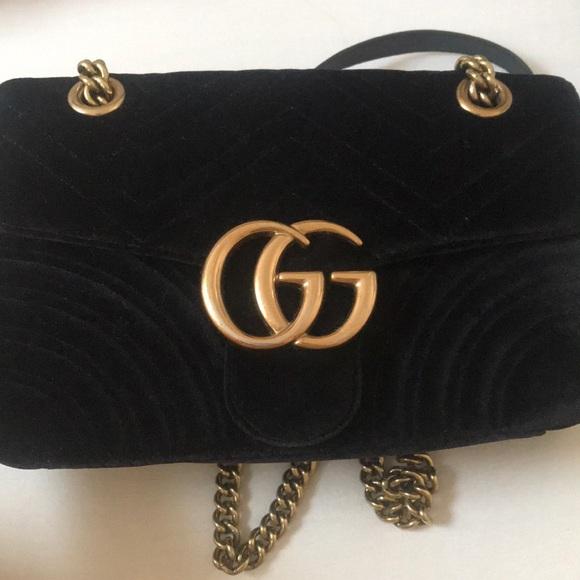 192994d92f6 Handbags - USED Gucci W GG Marmont 2.0 Black Bag